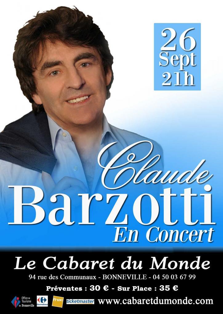 affiche Claude-Barzotti-Cabaret-du-Monde Bonneville