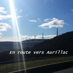 Le pont de Millau sur le chemin d'Aurillac
