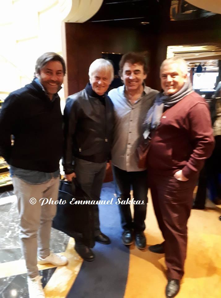 Stéphane Pauwels, Dave, Claude et Emmanuel Sakkas