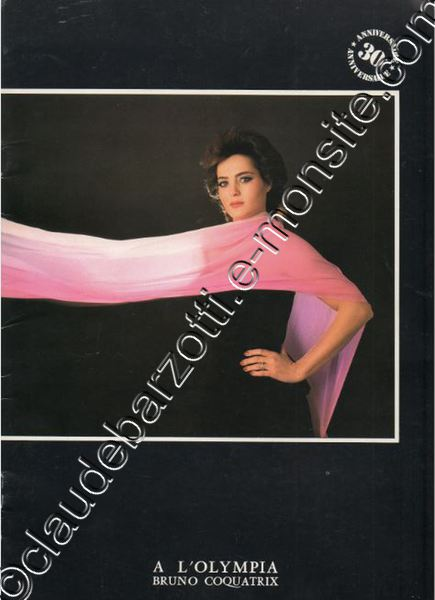 Programme 30 ans Olympia Linda de Suza et Claude Barzotti (1984)