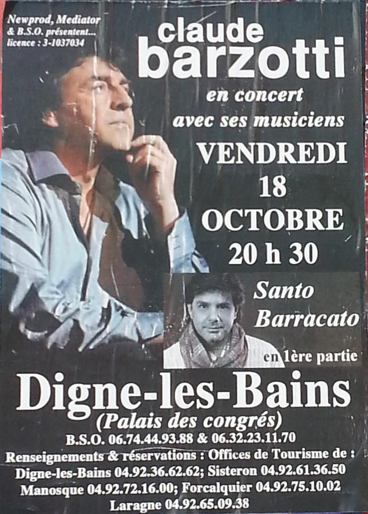 affiche concert de Digne les bains