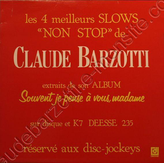 Album 33T SOUVENT JE PENSE A VOUS MADAME 4 titres Spécial disc jockey