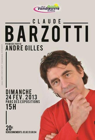 concert Claude Barzotti à Vandoeuvre les Nancy