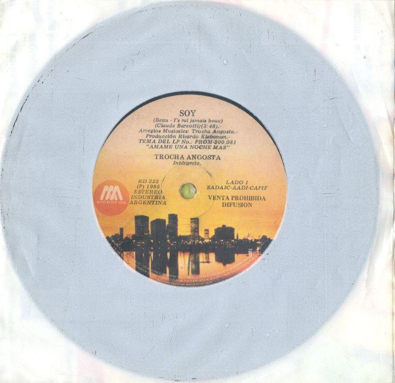 SOY chanté par Trocha ANGOSTA 1985