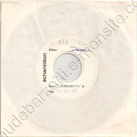 45 tours Parrain (oh mamma) échantillon 1985