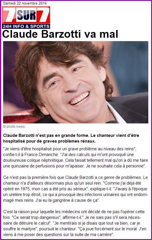 7 sur 7 Claude Barzotti