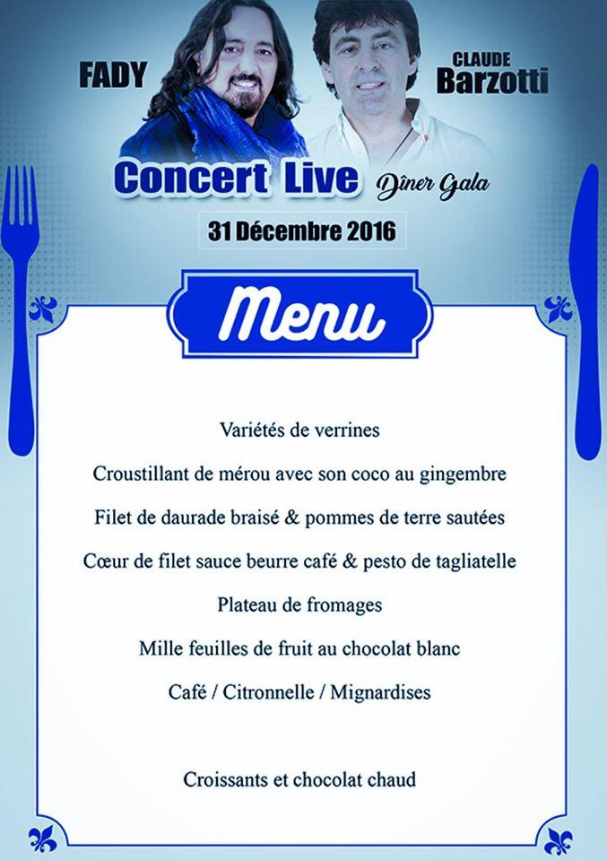 Abidjan menu