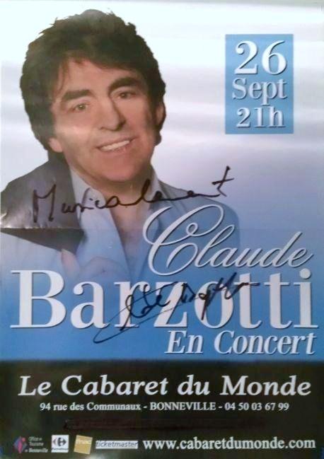 Affiche claude barzotti cabaret du monde