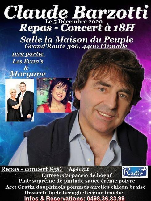 Affiche concert barzotti 5 decembre 2020 a