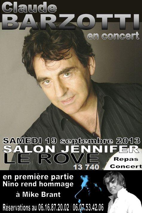 concert Claude Barzotti au ROVE