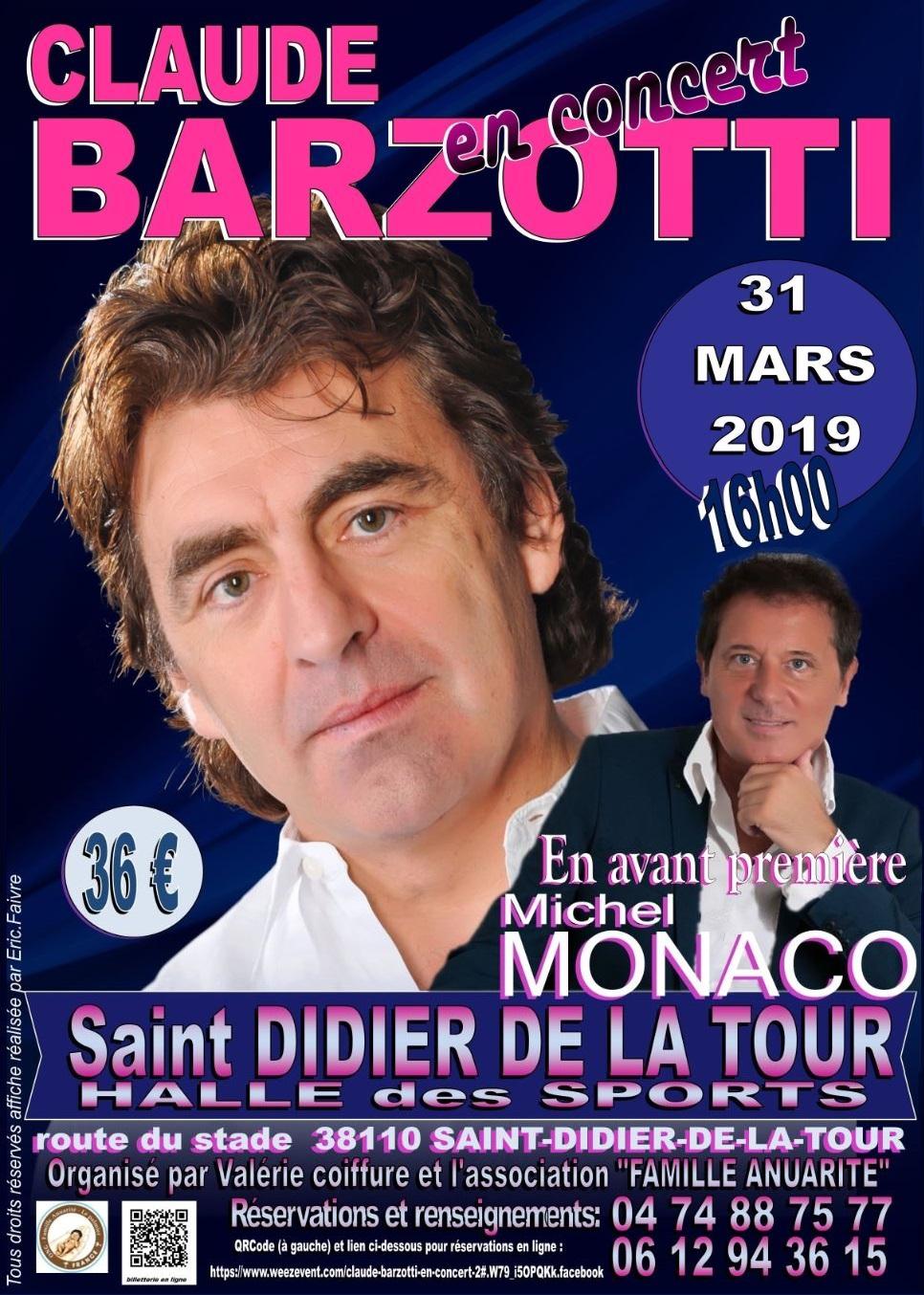 Affiche officielle 31 mars 2019 st didier de la tour concert barzotti