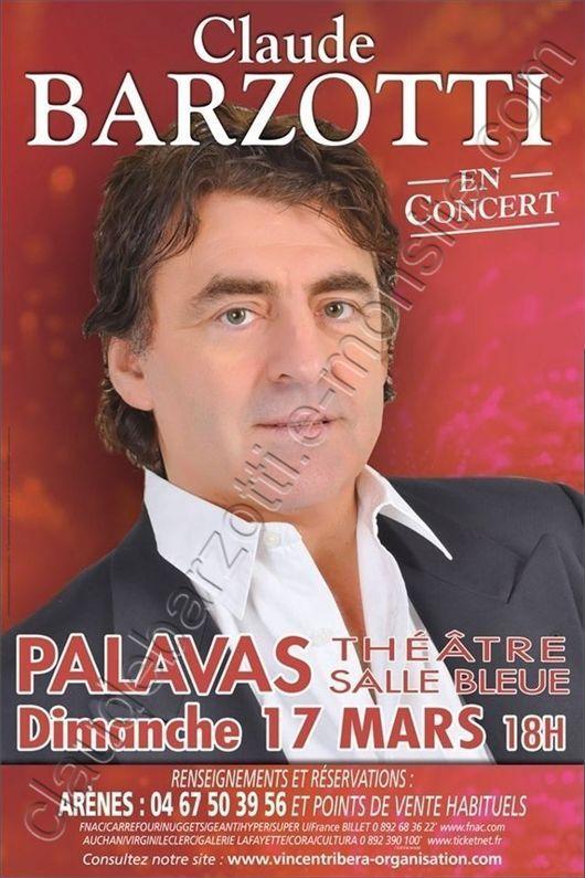 Blog de barzotti83 : Rikounet 83, Concert Claude Barzotti Palavas les flots Salle Bleue 17 mars 2013 18h00