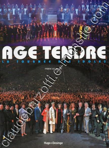 coffret age tendre DVD livre (la tournée des idoles)