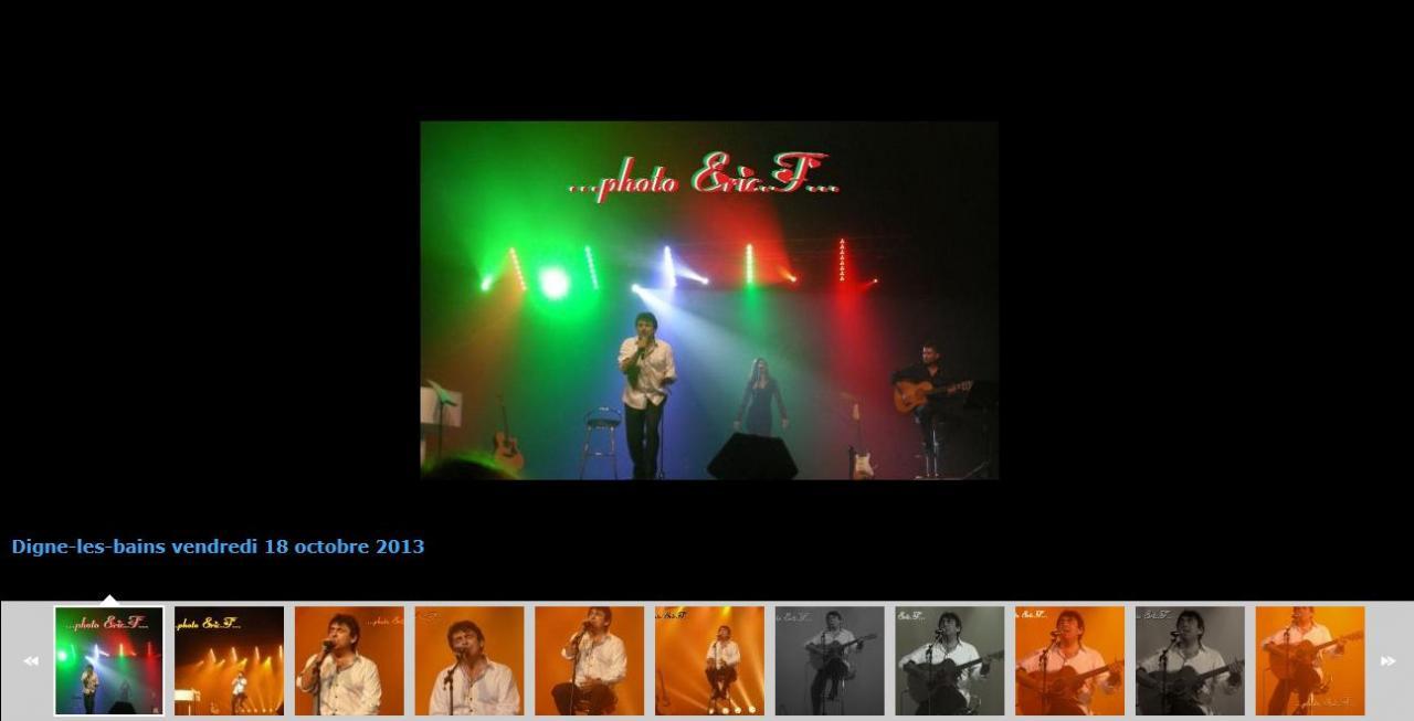 album photos du concert Claude Barzotti de Digne les bains
