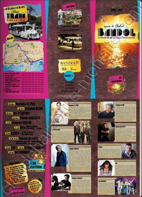 """Flyer""""après le soleil Bandol Concerts spectacles gratuits"""""""