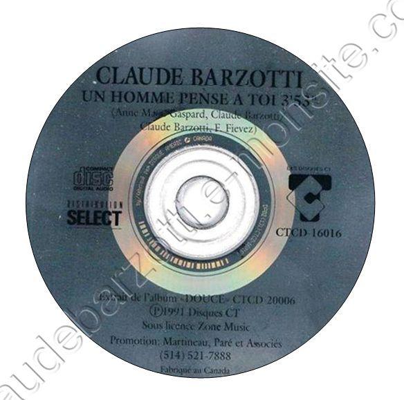 """CD promo Canada """"Un homme pense à toi"""" 1991 CTCD-16016"""