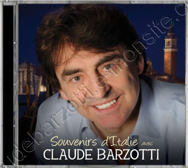 CD souvenirs d'Italie avec Claude Barzotti