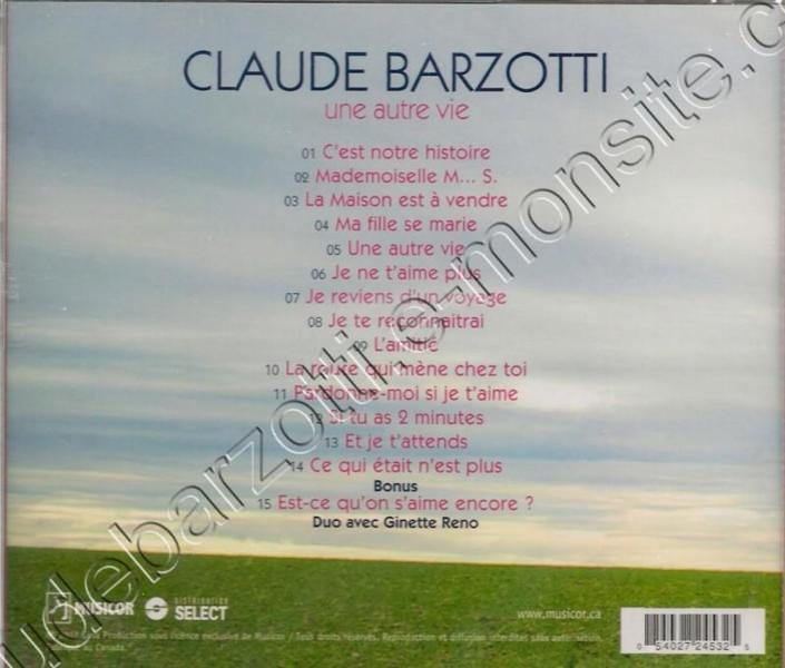 CD album une autre vie Canada (6 novembre2012)