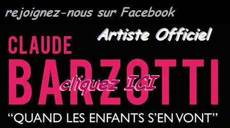 page officielle artiste Claude Barzotti