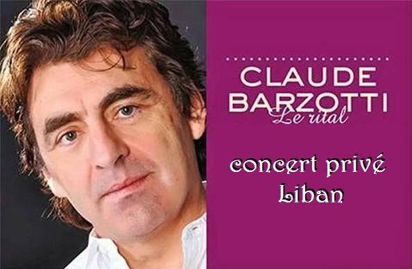 Concert claude barzotti 2014 au liban