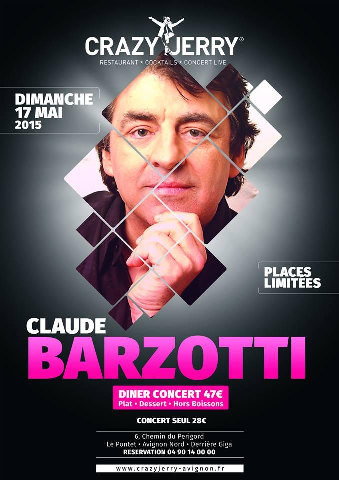 Concert claude barzotti crazy jerry 17 mai 2015