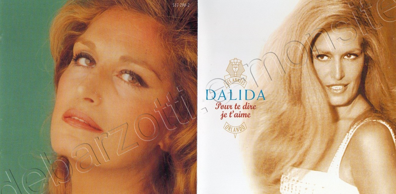 Livret du CD best of Dalida