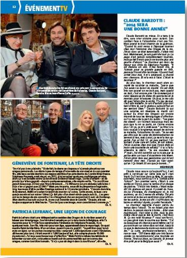 TV Magazine DHbe article de presse Claude Barzotti ICI