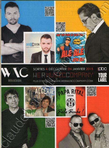 Entrevue WeRmusicCompany Claude Barzotti