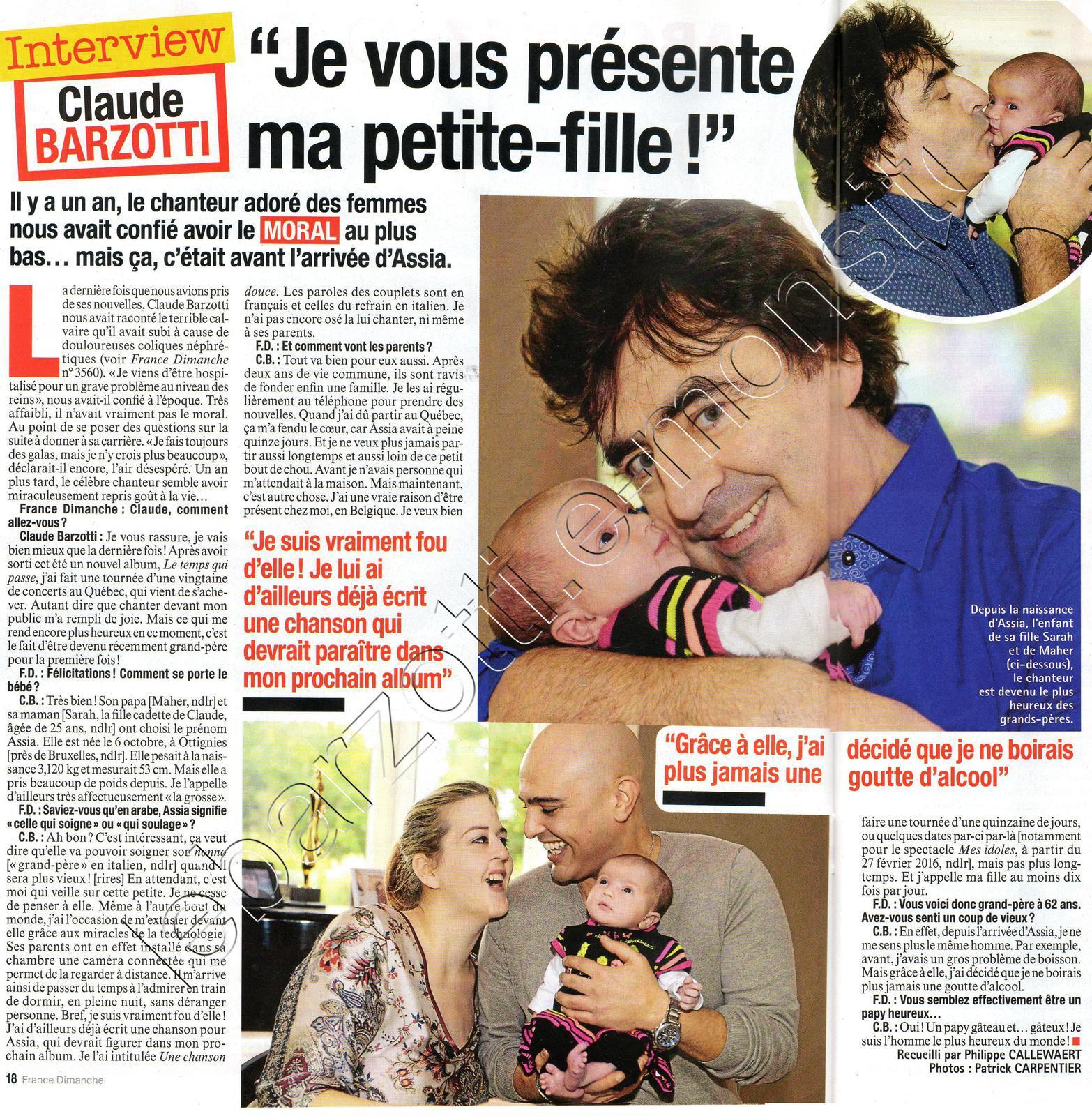 France Dimanche page 18 du 18 décembre 2015