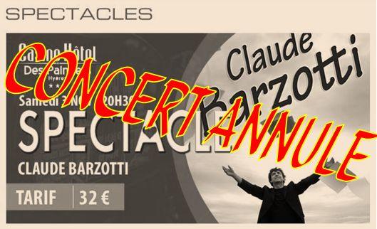 Concert à Hyères annulé