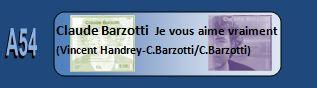 Claude Barzotti je vous aime vraiment