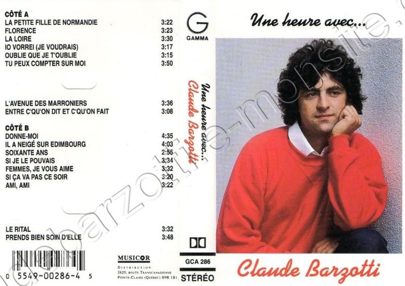 une heure avec Claude Barzotti (Canada Gamma GCA 286)