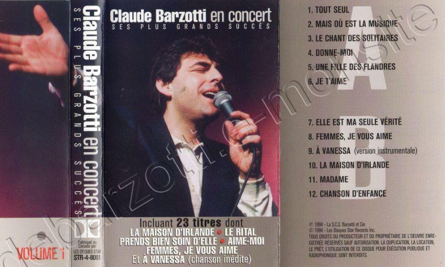 Claude Barzotti en concert volume 1