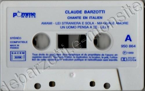 Claude Barzotti chante en italien