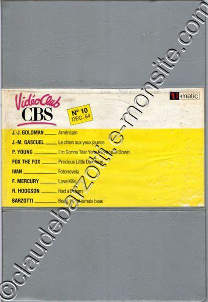 K7 vidéo U.MATIC 1984