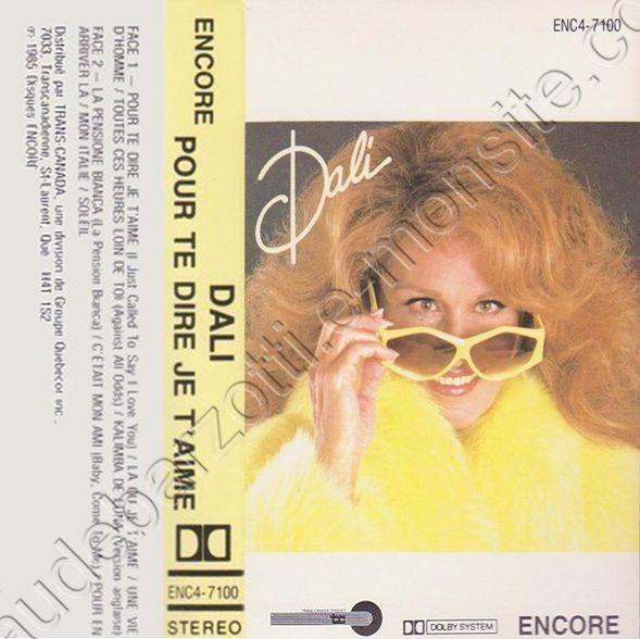 """k7 audio de Dalida """"Dali"""" Encore"""