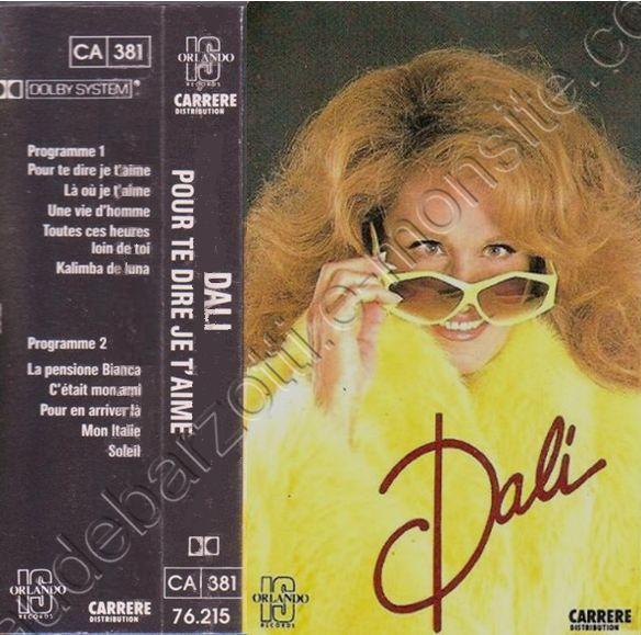 """k7 audio de Dalida """"Dali"""""""