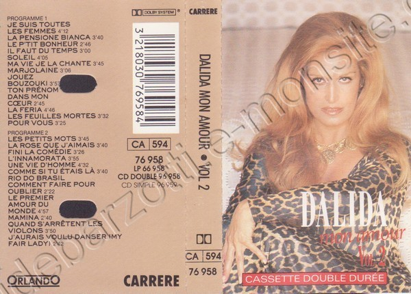 """k7 audio double durée de Dalida """"Mon amour"""""""