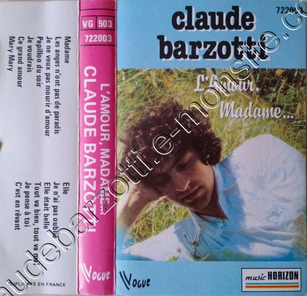 K7 audio l'amour madame