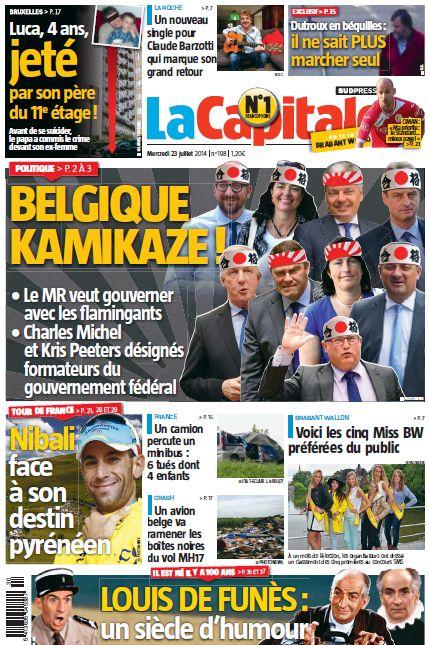 Blog de barzotti83 : Rikounet 83, Article de presse La Capitale Belgique édition Braban Wallon du mercredi 23 juillet 2014 page 8