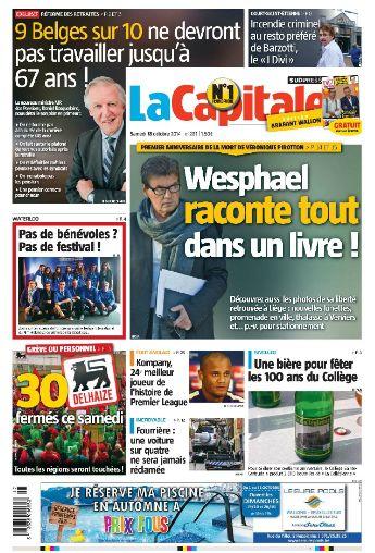 La Capitale belgique samedi 18 octobre 2014