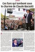 La Provence 7 octobre 2019 page 10 (1 page) Ces fans qui tombent sous le charme de Claude Barzotti