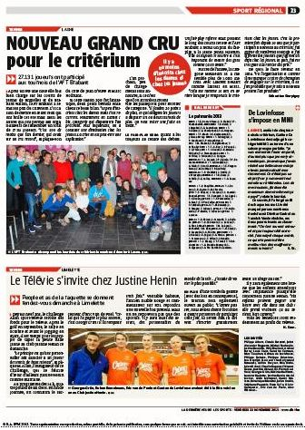 article de presse la DH.be Télévie