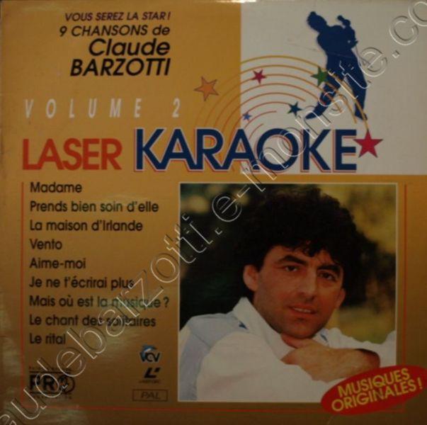 Laser karaoké Claude Barzotti
