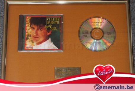 disque d'or Claude Barzotti chante Noël 1993