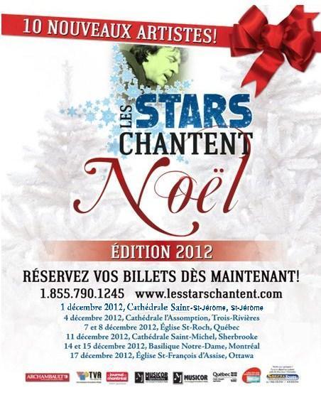les stars chantent noel tournée 2012