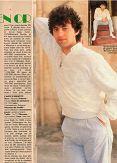 salut N° 235 du 26 septembre 1984 pages 11 et 12 (1 page et demi) Claude Barzotti le Rital en or