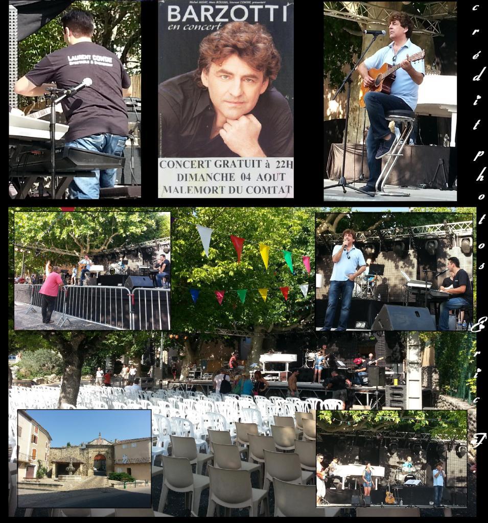 Concert Claude Barzotti à Malemort du Comtat le 4 août 2013