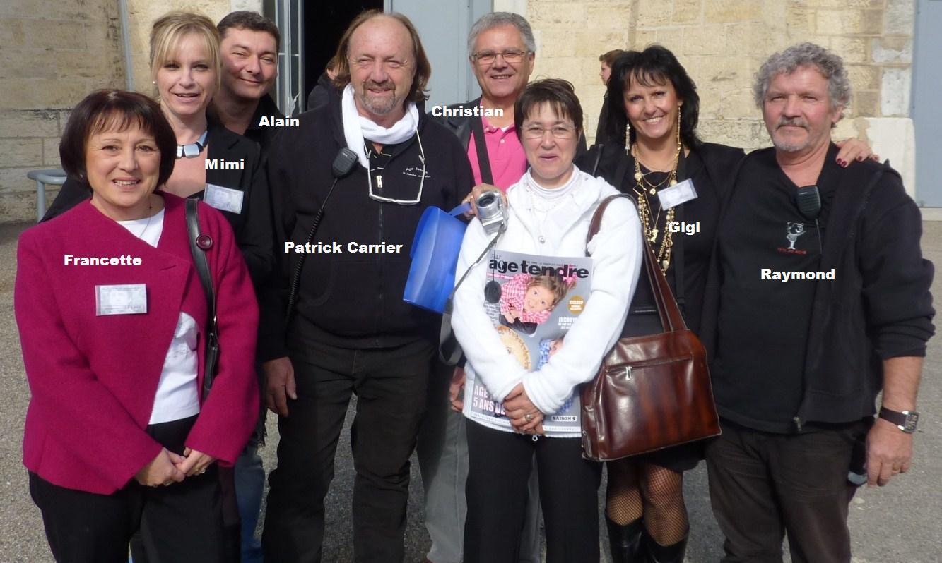 tournée age tendre à Lyon en compagnie des fans de Claude Barzotti