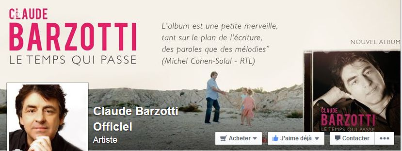 Page officielle Claude Barzotti